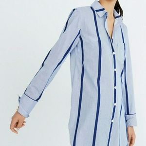 Madewell Striped Button Down Tunic